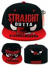 Chicago Greatest 23 New Pro Straight Outta Bulls Black Red Era Snapback Hat Cap