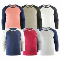 Brave Soul Osbourne Mens T-Shirt Cotton Long Sleeved Crew Neck Casual Top