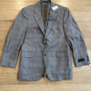 NWT JoS. A. BANK Signature Silk Wool Houndstooth Blazer Sport Coat Jacket 40R
