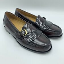 Cole Haan Pinch Buckle Loafers Shoes Leather Burgundy Mens Kiltie