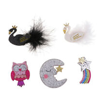 5 Glitter Sequins Patches DIY Motif Clothing Appliques Glue On Embellishment
