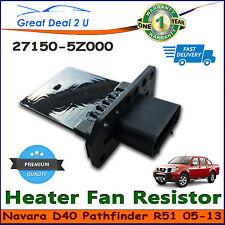 Blower Motor Heater Fan Resistor for Nissan Navara D40 & Pathfinder R51Manual