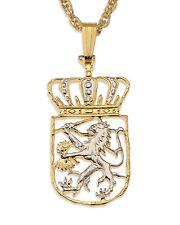 "Netherlands Pendant & Necklace.1 Guilder Hand cut - 5/8"" diameter ( # 235B )"