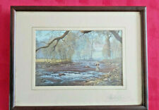 """PRINT FISHMAN PICTURE """"AUTUMN AFTERNOON ON THE BARLE"""" SIGNED by MAURICE BISHOP"""