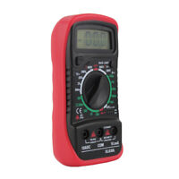 LCD Display Digital Multimeter Volt Amp Ohm Meter with Diode Test Red