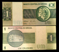 Brazil 1 Cruzerios 1980 Banknote World Paper Money UNC Currency Bill Note