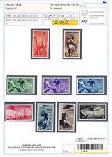 ITALIA REGNO 1934 CAMPIONATI MONDIALI DI CALCIO 9 VALORI G.I MNH** BOLAFFI 100%