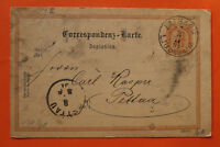 Slowenien Slovenija Ganzsache AK Laibach Ljubljana 1891 2 Kreuzer Korrespondenz