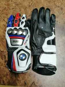 BMW MotoGP Motorbike Leather Gloves All Sizes Available