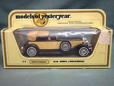MATCHBOX MODELS OF YESTERYEAR Y4 1930 MODEL J DUESENGERG