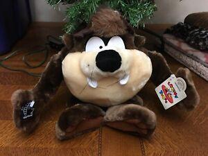 "VINTAGE 1996 Looney Tunes Tasmanian Devil Plush 15"" by Applause"