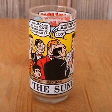 1976 Sunday Funnies Promo Glass Smilin Jack