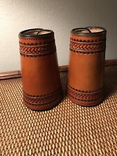 Western Americana Sass Cowboy Action Leather Roping Cuffs, #214, Usa