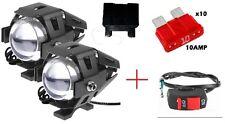 2PEZZI Moto LED Faretti CREE U5 125W 3000LM +INTERRUTTORE+FUSIBILE+PORTFUSIBILE