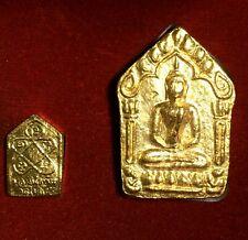 Thai Amulet 2 Psc Phra PHONG PRAI KUMARN (LP TIM) Wat Lahan Rai with Box