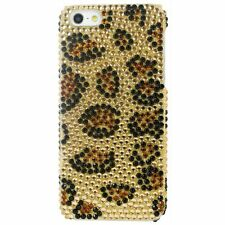 Tonic Glamour Rhinestone Case For iPhone 5/5s/SE Leopard + Free Screen Protector