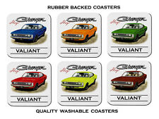 VH  VALIANT  CHARGER  770    SET OF 6   QUALITY RUBBER DRINK  COASTERS