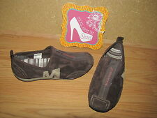 Merrell 'Barrado' Chestnut Brown Suede Zipper Sneakers - 7.5 European 38 EUC