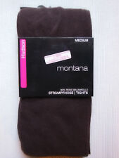 Hudson Montana Knitted Tights High Cotton Content Black Brown 40-42