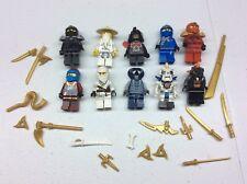 LEGO Ninjago Minifig Lot of 10 MINIFIGS Kai Jay Weapons Lot S479B