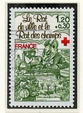STAMP / TIMBRE FRANCE OBLITERE N° 2025 FABLE DE LA FONTAINE /