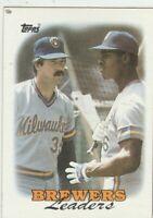 FREE SHIPPING-MINT-1988 Topps #639 Glenn Braggs Brewers PLUS BONUS CARDS