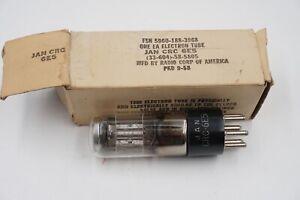 1 NOS RCA JAN CRC 6E5 Vacuum Tube - RARE 1956 Vintage Electron Ray Tuning Eye