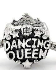 Dancing Queen Super Star Charm Spacer European Bead Compatible for Most European