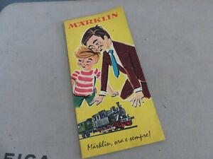 MARKLIN - catlogo estratto del 1960 -Pieghevole- OTTIMO stato- Ghigliotti Ge -