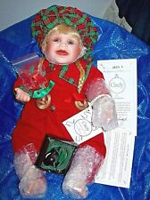 "Hamilton Collection/ Nel Groothedde Porcelain Doll ""Cindy"" With Coa"