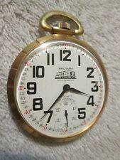 Waltham 17 Jewel Train Dial & Train Case Pocket Watch Very Nice