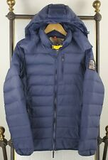PARAJUMPERS Medium Made in Italy Mens Down Filled Hooded Winter Jacket Coat Blue