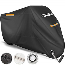 Favoto Waterproof Motorcycle Cover XXL Motorbike Cover 245cm long UV Scratch