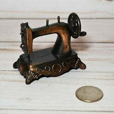Vintage Die-Cast Minature Replica Sewing Machine Pencil Sharpener Antique Finish