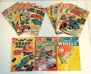 15 lot Charlton HOT ROD Comics, Drag N Wheels, Surf, Grand Prix, and Racing Cars