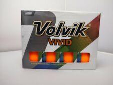 1 dozen new Volvik Vivid Matte Orange golf balls