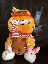 Garfield - Dakin - The Night Before - wearing Bunny Rabbit Slippers