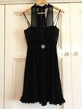 "Alannah Hill Size 8 Dress Formal Black 100% Silk "" My New Fling Frock"""