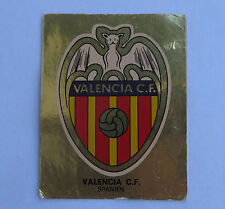 Panini Fussballsticker 1980  Valencia C.F. Gold Wappen Fussballbild  sehr selten