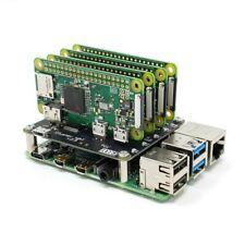 Raspberry Pi 4 Model B & 2 x Pi Zero W Cluster inc Cluster Hat v2.5 + SD + Case