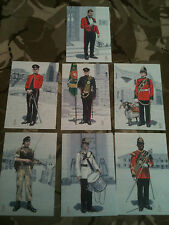 Set x 7 Military Postcards 1st Worcestershire & Sherwood Foresters by Alix Baker