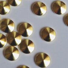 10mm x 100pcs Hotfix *GOLD* Korean Cone Plating Studs Flatback DIY Transfer