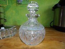 Huge cut crystal antique Art Deco scent / perfume bottle 357-17