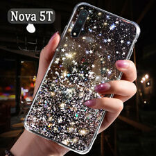 For Huawei Nova 5T Shockproof Glitter Rubber Crystal Clear Slim Soft Case Cover