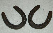"Pair (2)  Western Americana Lucky Horseshoe Horse Shoes 3 1/2"" x 3"""