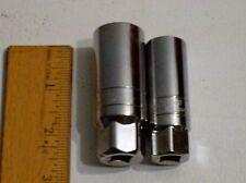 "Matco Tools Silver Eagle 3/8"" DRIVE SPARK PLUG SOCKET SET A+"