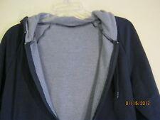 american apparel  thermal lined  Hoody navy /melange navy xs