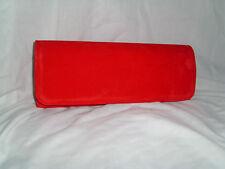 Rouge vif daim (suédine) pochette / sac épaule rouge / sac de soirée