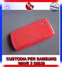 Custodia cerchi ROSSA per Samsung S8530 Wave 2