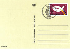 Nazioni UNITE 1985 0.70Fs pre pagata cartolina primo giorno annullato GINEVRA SHS
